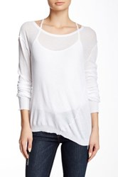 Inhabit Twisted Scoop Neck Tee White