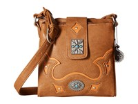 American West Lexington Organized Crossbody Tan Golden Tan Cross Body Handbags Brown