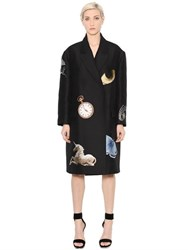 Alexander Mcqueen Surreal Silk And Wool Jacquard Coat
