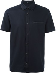 Boss Hugo Boss Ribbed Shirt Blue