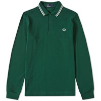 Fred Perry Long Sleeve Twin Tipped Polo Blue