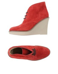 Gianna Meliani Lace Up Shoes Red