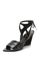 Narciso Rodriguez Carolyn Wedge Sandals Black