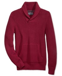 American Rag Men's Shawl Collar Sweater Only At Macy's Garnet Stone