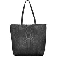 Carlos Falchi Medium Shopper Tote Bag Black
