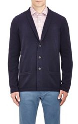 Malo Shawl Neck Cardigan Blue