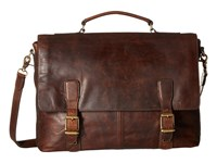 Frye Logan Top Handle Dark Brown Antique Pull Up Handbags