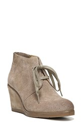 Franco Sarto Women's 'Austine' Lace Up Wedge Bootie Mushroom Suede