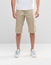 Voi Jeans Turn Up Chino Shorts Beige