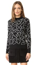 Markus Lupfer Heart Scribble Natalie Sweater Black White
