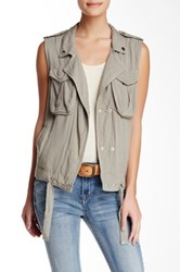 Kensie Jeans Soft Utility Cargo Vest Green