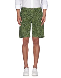 Incotex Trousers Bermuda Shorts Men Military Green