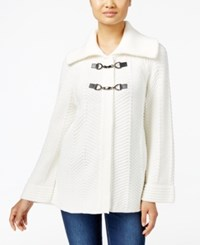 Jm Collection Petites Petite Toggle Front Cardigan Only At Macy's Eggshell