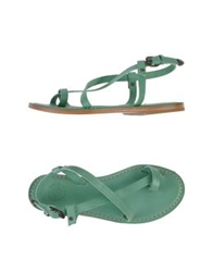 Buttero Thong Sandals Light Green