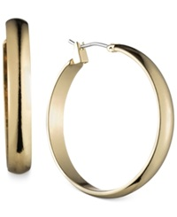 Jones New York Gold Tone Wide Hoop Earrings