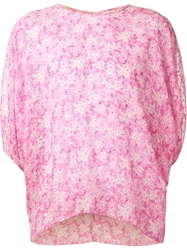 Giambattista Valli Floral Print T Shirt Pink And Purple