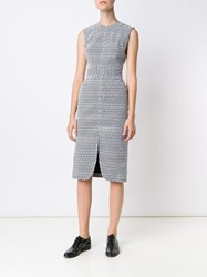 Thom Browne Jacquard Fitted Dress Black