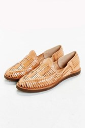 Chamula Huarache Woven Leather Shoe Tan