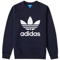 Adidas Original Trefoil Crew Sweat Blue