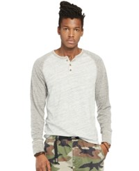 Denim And Supply Ralph Lauren Flag Patch French Terry Hoodie Gray