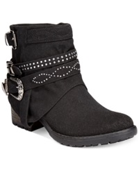 Dolce By Mojo Moxy Booyah Studded Cowboy Booties Women's Shoes Black
