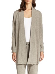 Hanro West Broadway French Terry Cardigan Grey