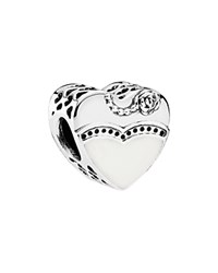 Pandora Design Pandora Charm Sterling Silver Cubic Zirconia And Enamel Our Special Day Moments Collection