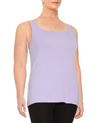 Lord And Taylor Plus Cotton Tank Top African Violet
