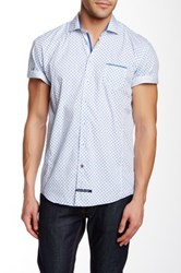 English Laundry Short Sleeve Woven Trim Fit Shirt Multi