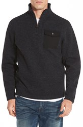 Timberland 'Branch River' Quarter Zip Fleece Sweater Black Heather