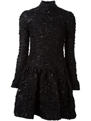 Simone Rocha Textured Mini Dress Black