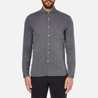 Oliver Spencer Men's Eton Collar Shirt Lupin Charcoal