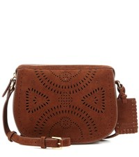 Polo Ralph Lauren Suede Cross Body Bag Brown
