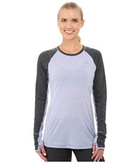 New Balance Performance Merino Long Sleeve Top Daybreak Black Women's Long Sleeve Pullover Gray