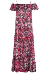 Iro Printed Cotton Blend Dress Multicolor