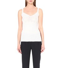 The Kooples Lace Cotton Jersey Camisole White