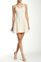 Eight Sixty Crochet Fit And Flare Dress White