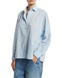 Vince Easy Button Front Shirt Blue