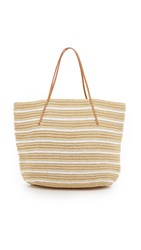 Hat Attack Twisted Stripe Tote White Stripe