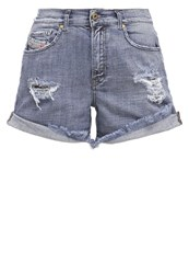 Diesel Scott Denim Shorts 0849N Destroyed Denim