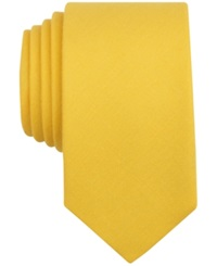 Bar Iii Carnaby Firth Solid Skinny Tie Yellow