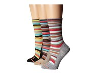 Fits Ultra Light Casual Crew 3 Pack Vintage Stripe Oatmeal Vintage Stripe Black Vintage Stripe Heath Women's Crew Cut Socks Shoes Multi