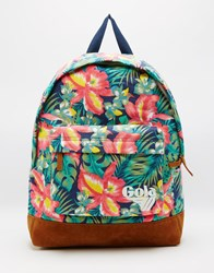 Gola Floral Printed Backpack Navy Tan
