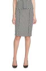Women's Cece By Cynthia Steffe Stripe Jacquard Pencil Skirt