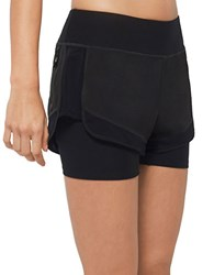 Mpg Soleen Layered Effect Sport Shorts Black