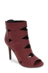 Charles By Charles David Women's 'Reform' Open Toe Sandal Merlot Snake Suede