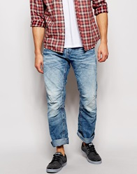 Jack And Jones Jack And Jones Loose Fit Jeans With Panels Lightbluedenim