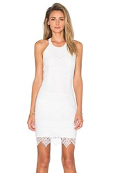 Bobi Black Lace Mini Dress White