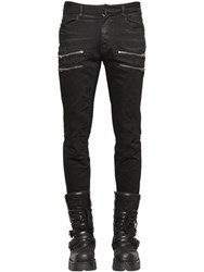 Faith Connexion 16Cm Zip Coated Denim Biker Jeans