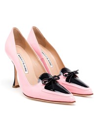 Manolo Blahnik Adam Selman Balumod Pumps Black Pale Pink